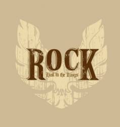 Rock with wings vector