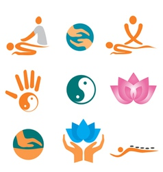 Icons of massage vector