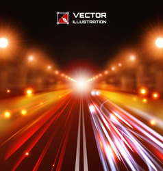 Red tint night road vector