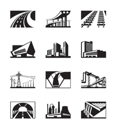 Different industrial construction vector