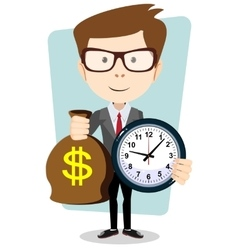 Money is time time management vector