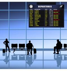 Airport set passengers vector