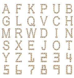 Alphabet of geometric shapes vector