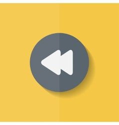 Reverse or rewind icon media player flat design vector