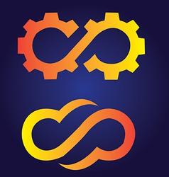 Infinite gear logo vector