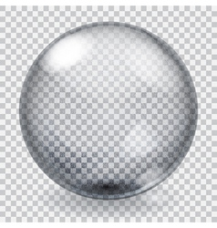 Transparent glass sphere with scratches vector