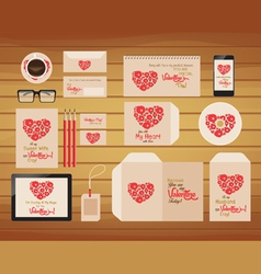 Brand identity valentines style retro vector