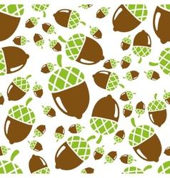 Acorn seamless pattern vector