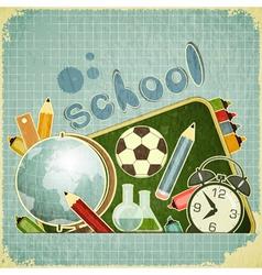 School board and school supplies vector