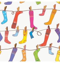 Seamless socks background vector