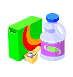 Icon laundry soap vector