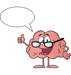Brain character giving the thumbs up vector