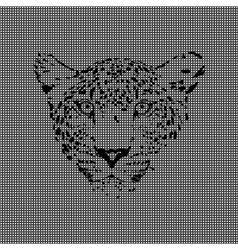 Cheetah made from textured background vector