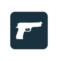 Gun icon rounded squares button vector