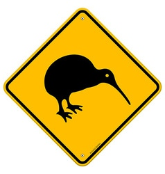 Kiwi yellow sign vector