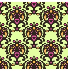 Seamless pattern damask vector