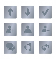 01 steel square chat icons vector