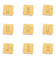 Sketchy communication icons vector