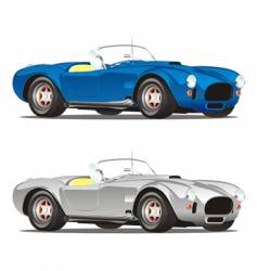 Convertible cars vector