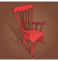 Little red rocking chair vector