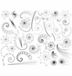 Scribble swirls vector