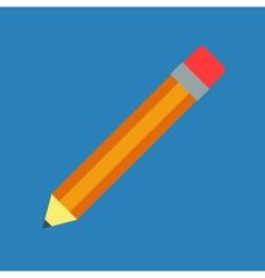 Flat pencil vector