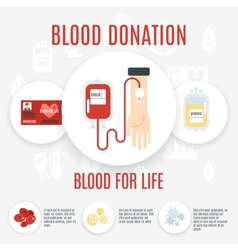 Blood donor icon vector