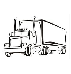 Truck symbol vector