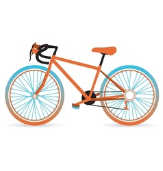 Colorful bicycle vector