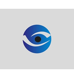 Eye vision logo design template eye icon vector