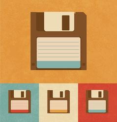 Floppy disk drive vector