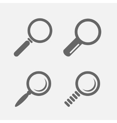 Magnifier glass iconssearch find lupe vector