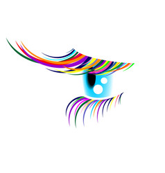 Coloured eyelashes2 vector