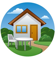 Cottage icon vector