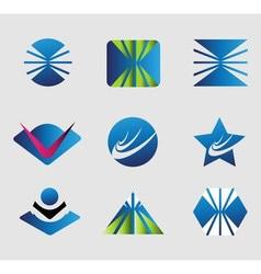 Symbol set abstract company logo collection vector