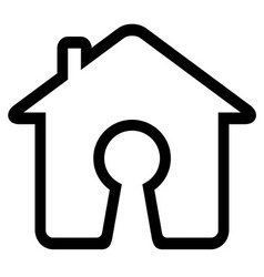 Keyhole on home icon vector