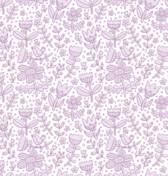 Purple floral seamless pattern vector