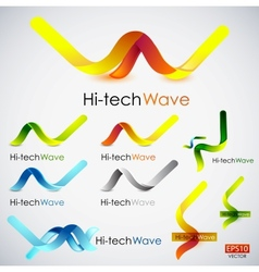 Abstract wave icons vector