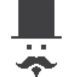 Moustache man vector