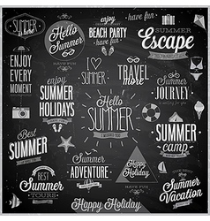 Summer chalkboard set vector