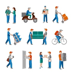 Delivery icons flat vector
