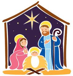 Baby jesus in a manger 5 vector