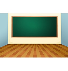Classroom and board vector