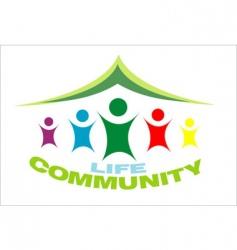 Life community symbol vector
