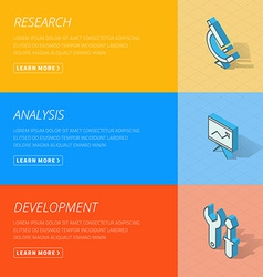 Flat design concept for research analysis vector