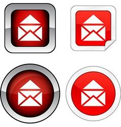 E-mail button set vector