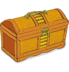 Ancient pirate chest vector