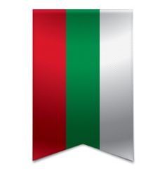Ribbon banner - bulgarian flag vector
