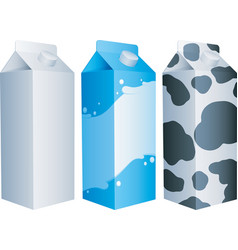 Milk packs vector