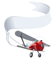 Retro airplane with banner vector